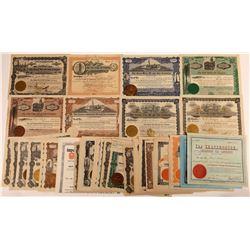 Kansas Oil Stock Certificate Group (47)  [128743]