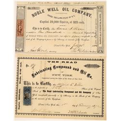 Two Early New York Oil Stocks, 1864 and 1872  [128714]