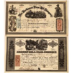 Two More Rare New York Oil Stocks Issued 1864 and 1865  [128713]