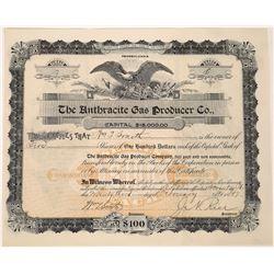 Rare 1897 Gas Company Stock Certificate  [127494]