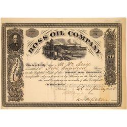 Ross Oil Company Stock Certificate, Pennsylvania, 1865  [128876]