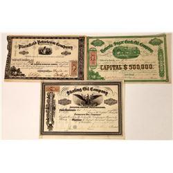 Three Pennsylvania Oil Stocks Issued in 1865  [128719]