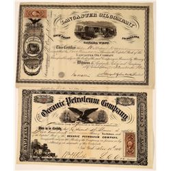 Two Early Pennsylvania Oil Stocks Issued in 1864  [128718]