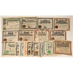 All Pre-1910 Texas Oil Stocks, Includes Seven from Beaumont, 1901-02 (31)  [128704]