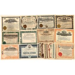 Texas Oil Companies Stock Certificates (22)  [127727]