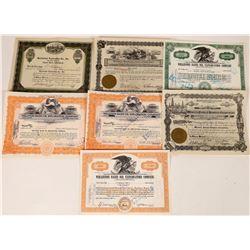 Oil Exploration Company Stock Certificates  [127463]