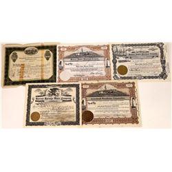 Utah Water & Power Co. Stock Certificates (5)  [127506]