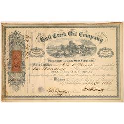 Bull Creek Oil Company Stock Certificate, 1864  [128875]