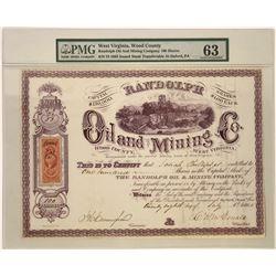 Randolph Oil & Mining Stock, West Virginia, 1865  [128873]