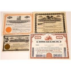 Natural Gas Company Stock Certificates (4)  [127469]