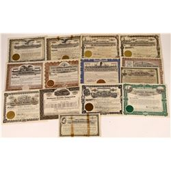 Oil Royalty Company Stock Certificates (14)  [127502]