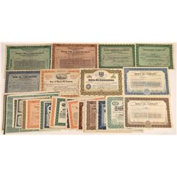 United States Oil Stocks, Early 1920's,Printed by Banknote Companies (47)  [128739]