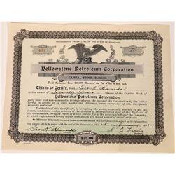 Yellowstone Petroleum Stock Certificate  [127475]