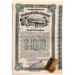 Piedmont Cable Company Bond, Oakland, Cal. 1889  [129483]