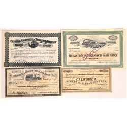California Railroad Stock Certificate Group  [113959]