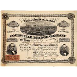 Louisville Bridge Company Stock, Kentucky, 1869  [128595]
