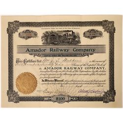 Amador Railway Company Stock - Ran from one ghost town to another in Montana  [123890]