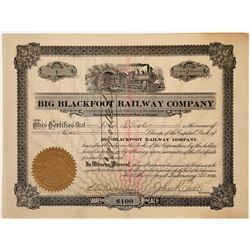 Big Blackfoot Railway Company Stock - NUMBER 1 - founders share, 1910  [123907]