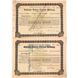 Gallatin Valley Electric Railway, The Bozeman line to Yosemite Valley!  - Two Varieties  [123889]