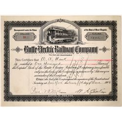 Butte Electric Railway Company Stock signed by W. A. Clark