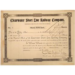 Clearwater Short Line Railway Company Stock - NUMBER 2  [123902]
