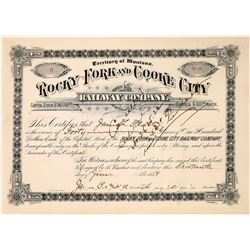 Rocky Fork and Cooke City Railway Company Stock, Cooke City, Montana, Number 6, 1888  [123896]