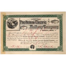 Helena Electric Railway Company Stock - Rare Issued, Number 1  [123853]