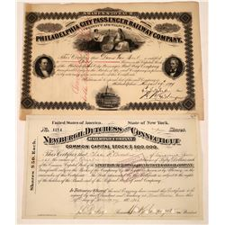 New York and Philadelphia RR stocks  [125289]
