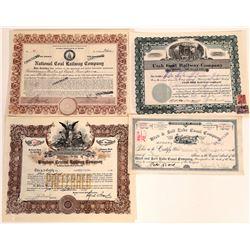 Utah Railroad & Canal Stock Certificates  [113957]