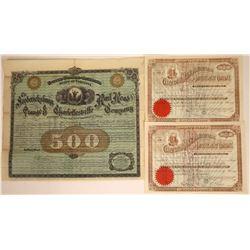 Virginia & West Virginia Railroad & Mining Stocks (3)  [128788]