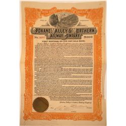 Spokane, Valley & Northern Railway Company Bond  [113951]