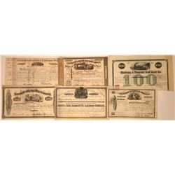 Railroad Stock Certificates with Nice Vignettes  [113851]