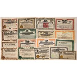 Automobile Related Stock Certificate Group (18)  [118756]