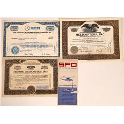 Helicopter Stock Certificates  [131397]