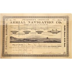 Petersen's American Aerial Navigation Co. Stock Certificate, 1883  [128815]