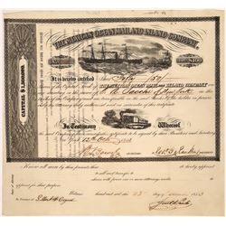 Mexican Ocean Mail and Inland Company Stock, 1853  [128831]