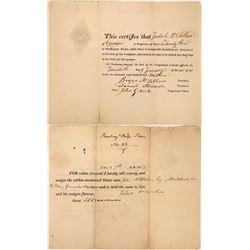1814 Bridge Stock Certificate  [127372]