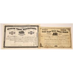 Two Wagon Related Company Stock Certificates  [127395]