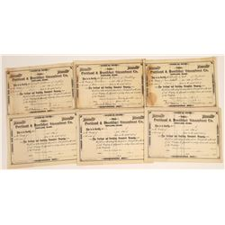 Portland & Boothbay Steamboat Company Stocks, Three Issued (6)  [128615]