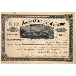 Boston Vacuum Dredging Company Stock Certificate  [127743]