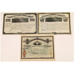 Bridge Company Stock Certificates (3)  [128954]