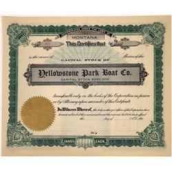Yellowstone Park Boat Company, unissued  [123946]