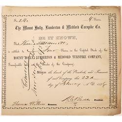 New Jersey Turnpike Company Stock Certificate  [127391]