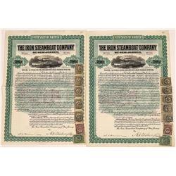 Iron Steamboat Company of New Jersey Gold Bonds, 1902 (2)  [128619]