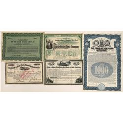 New York Shipping Related Stock and Bond Group, 1877-1946 (5)  [128622]