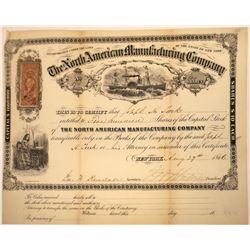 North Americana Mfg. Company of New York Shows Sidewheel Steamer, 1866  [131083]