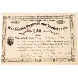 New York 1884  Moving Company Stock Certificate  [127413]