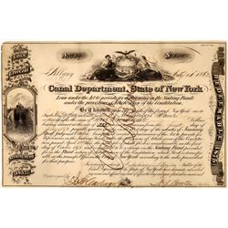 New York Canal Department Stock Certificate  [127399]