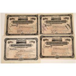 Pioneer Steamship Company Stock Certificates (4)  [128616]
