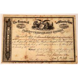 Early Pennsylvania Turnpike Company Stock Certificate   [127388]